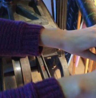 Holzdruckpresse