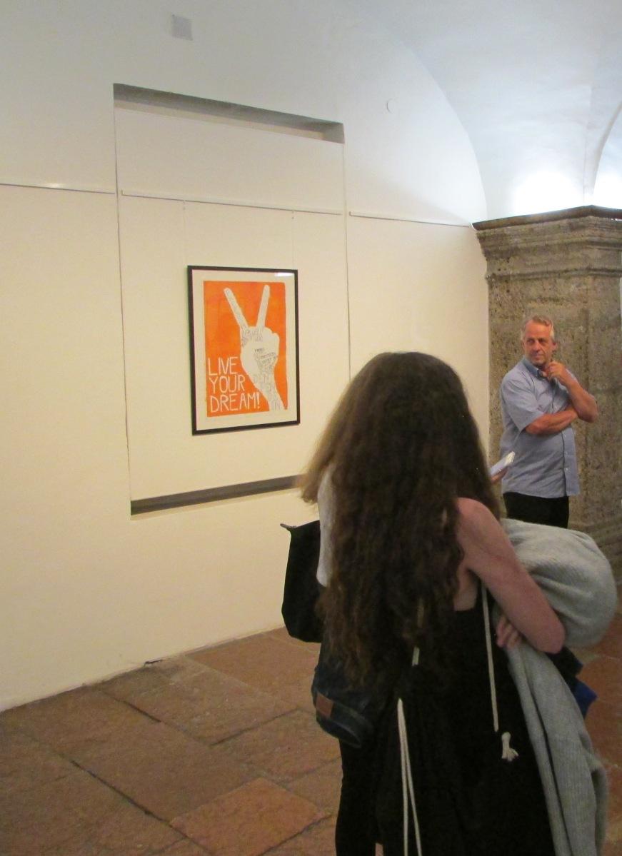 Ausstellung der Holzdrucke von Larissa Baku im Rahmen von Poster Art in der Rathausgalerie Salzburg - Juni/Juli 2018