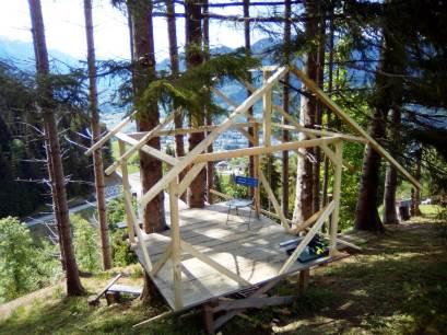 Baumhaushotel in der Bauphase